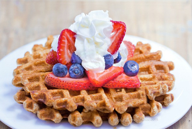 Healthy Breakfast Waffles  Healthy Waffles Light Fluffy and Fat Free