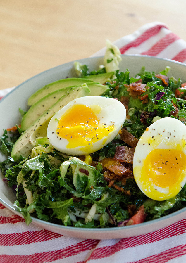Healthy Breakfast With Boiled Eggs  So…Let s Hang Out – BLT Breakfast Salad With Soft Boiled