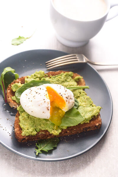 Healthy Breakfast With Eggs And Avocado  Poached Egg And Avocado Toast