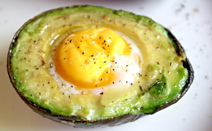 Healthy Breakfast With Eggs And Avocado  Baked Egg in Avocado