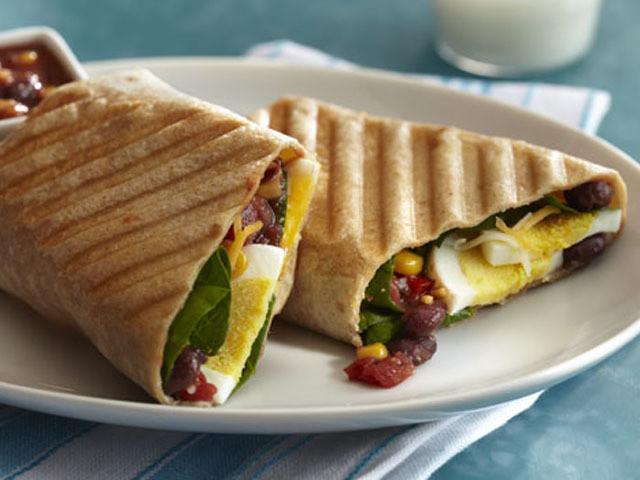 Healthy Breakfast Wrap Recipes  Breakfast Burrito Panini