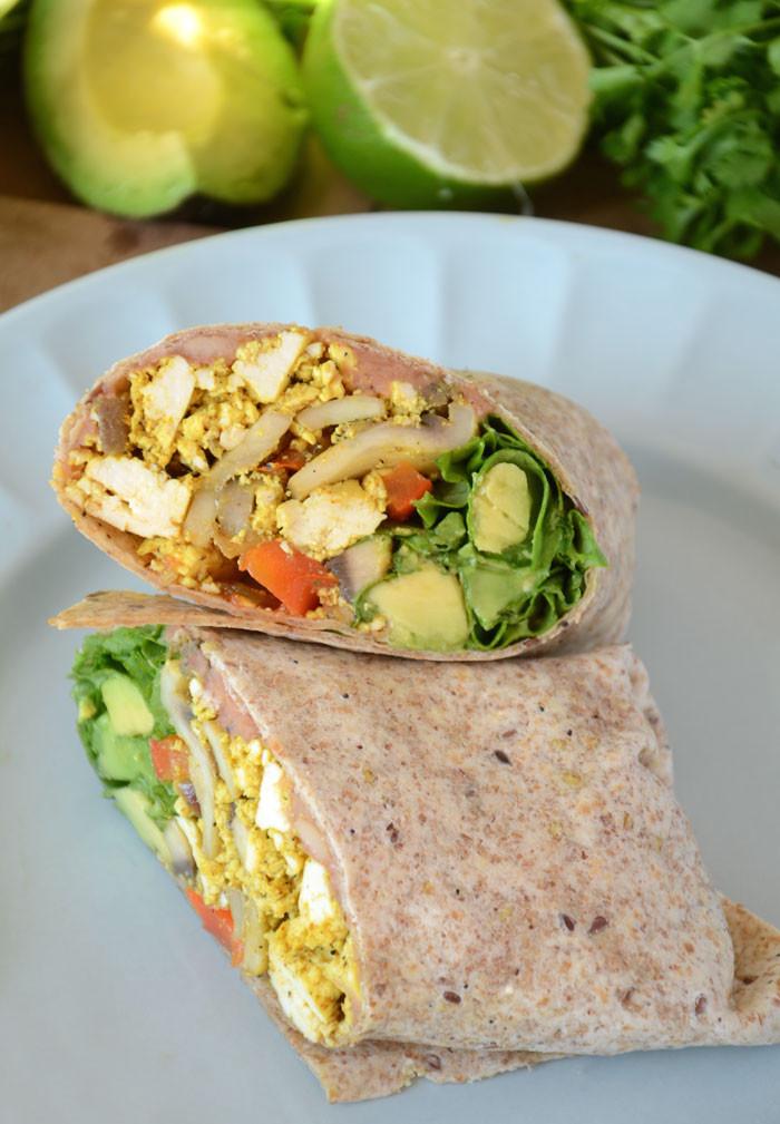 Healthy Breakfast Wrap Recipes  Amazing Healthy Vegan Breakfast Burritos
