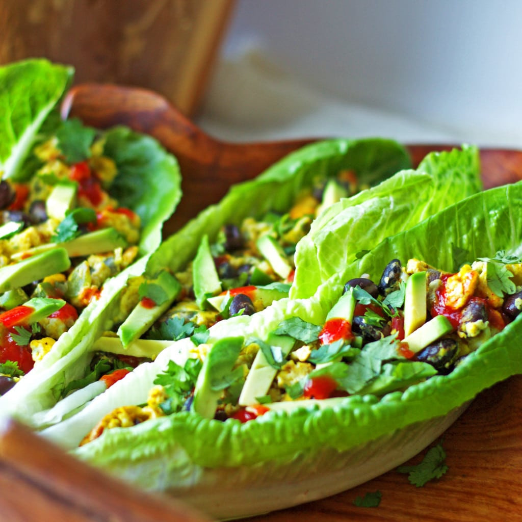 Healthy Breakfast Wraps  Southwest Scramble Lettuce Wraps Healthy Gluten Free