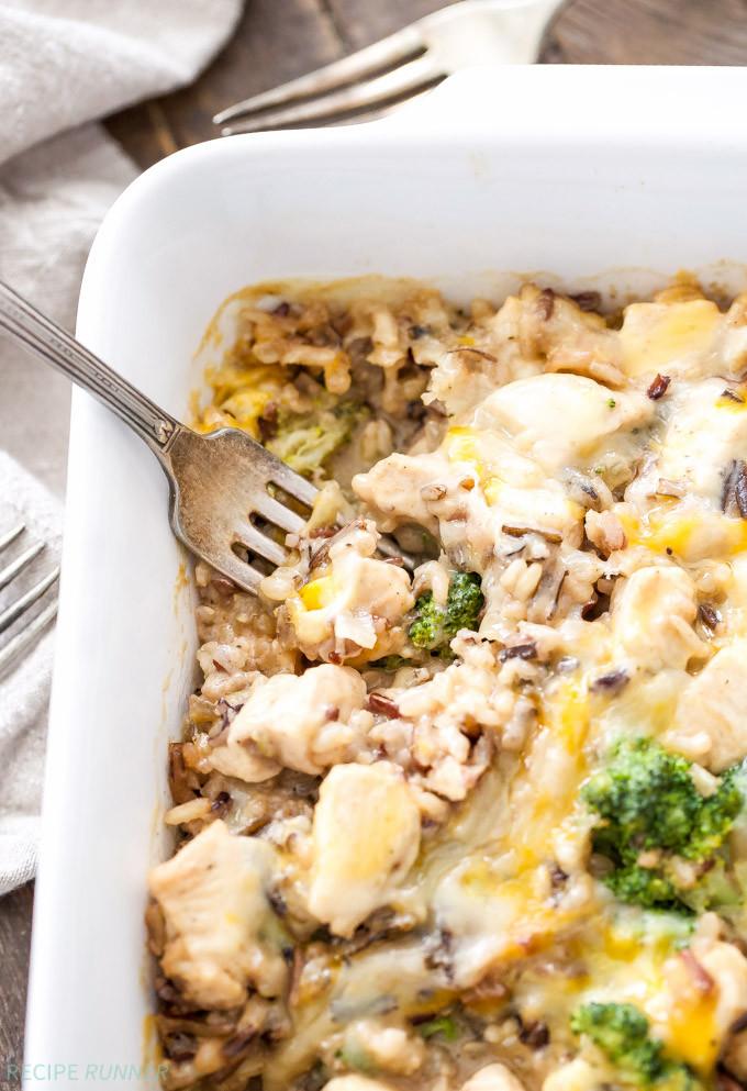 Healthy Broccoli And Rice Casserole  Broccoli Chicken and Cheese Wild Rice Casserole Recipe
