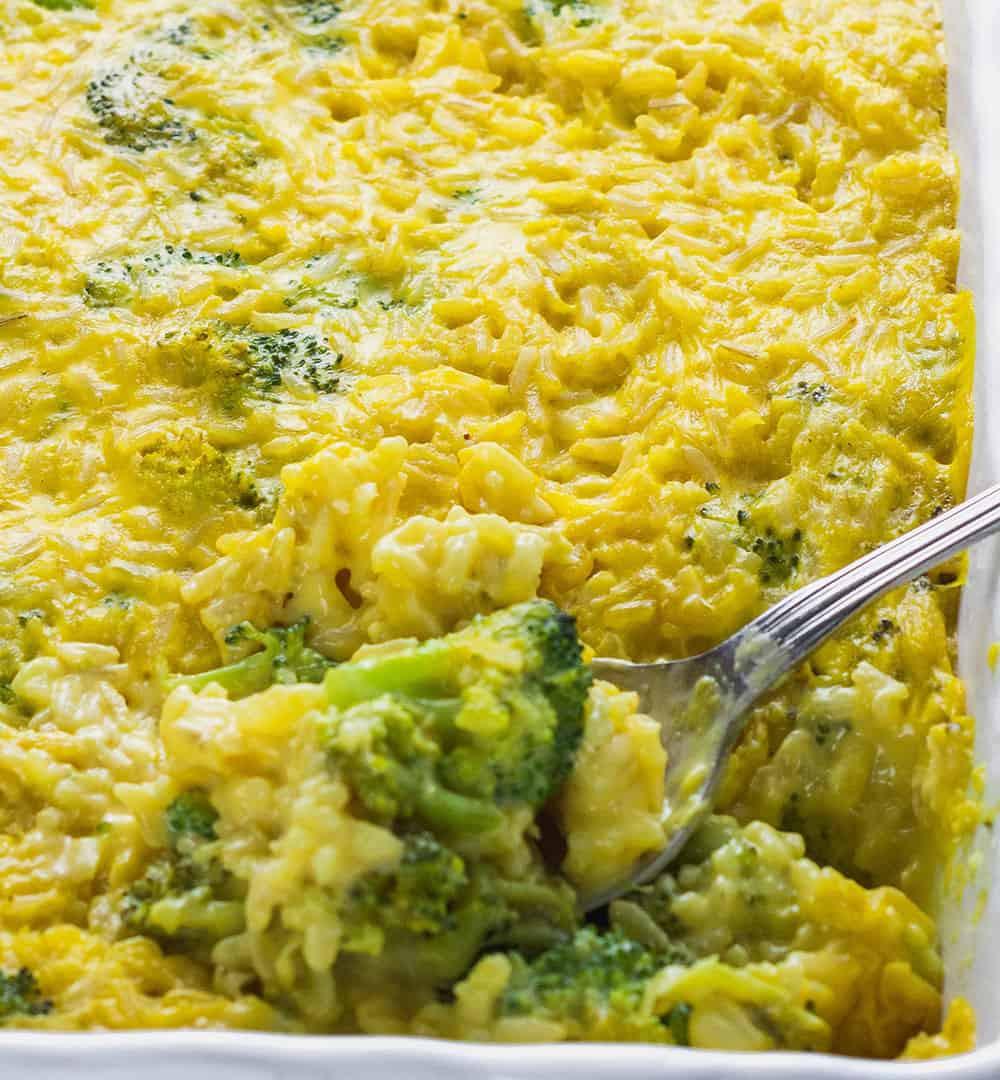 Healthy Broccoli And Rice Casserole  Vegan Broccoli Rice Casserole