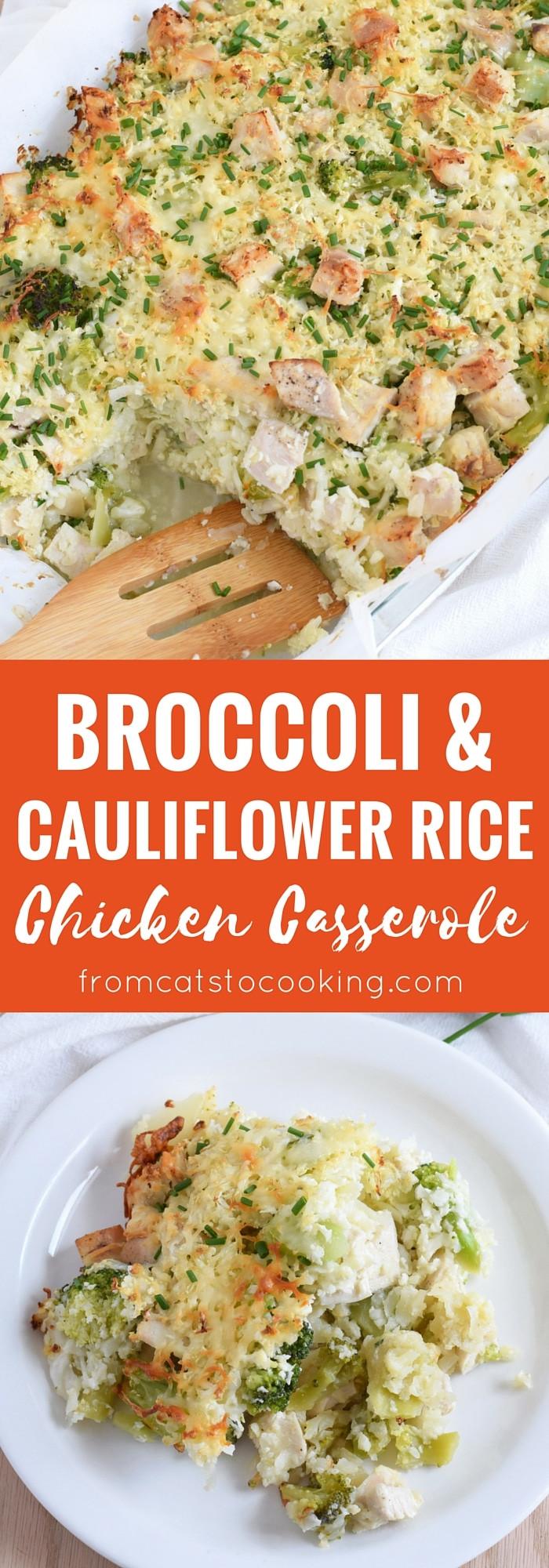 Healthy Broccoli And Rice Casserole  Broccoli & Cauliflower Rice Chicken Casserole Isabel Eats