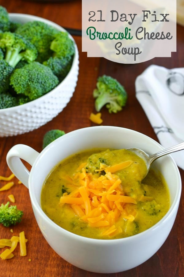 Healthy Broccoli Cheese Soup  21 Day Fix Broccoli Cheese Soup Instant Pot