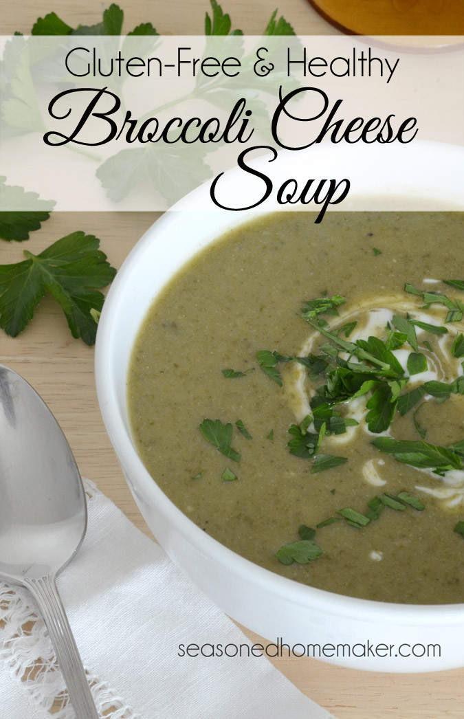 Healthy Broccoli Cheese Soup  Healthy Broccoli Cheese Soup in a Pot