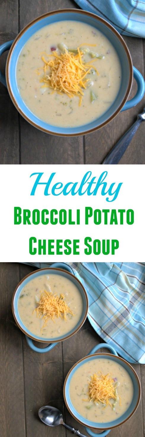 Healthy Broccoli Cheese Soup  Healthy Broccoli Potato Cheese Soup Chocolate Slopes