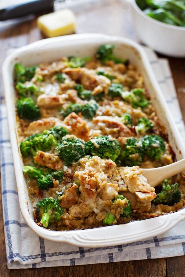 Healthy Broccoli Chicken Casserole  Creamy Chicken Quinoa and Broccoli Casserole Recipe