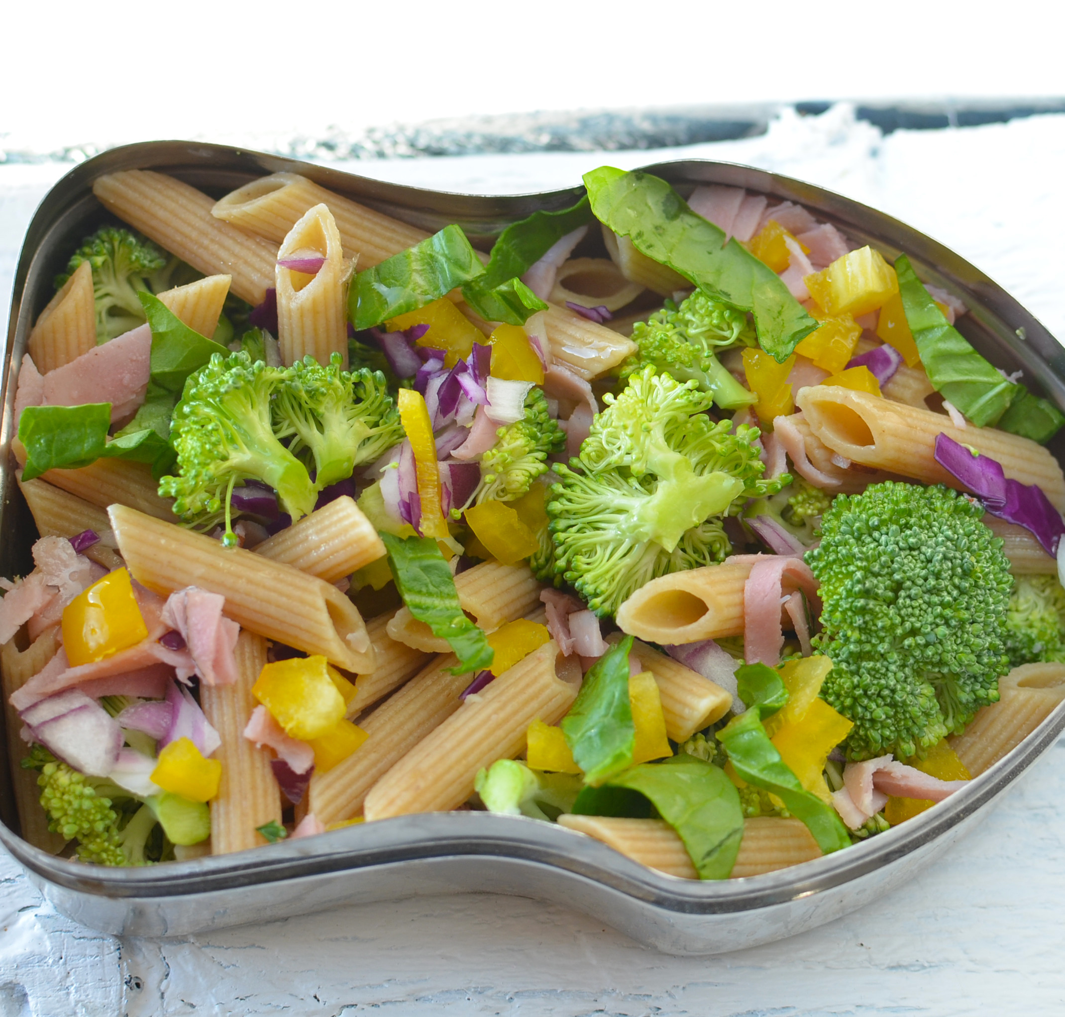 Healthy Broccoli Pasta Salad  Broccoli & Pepper Pasta Salad
