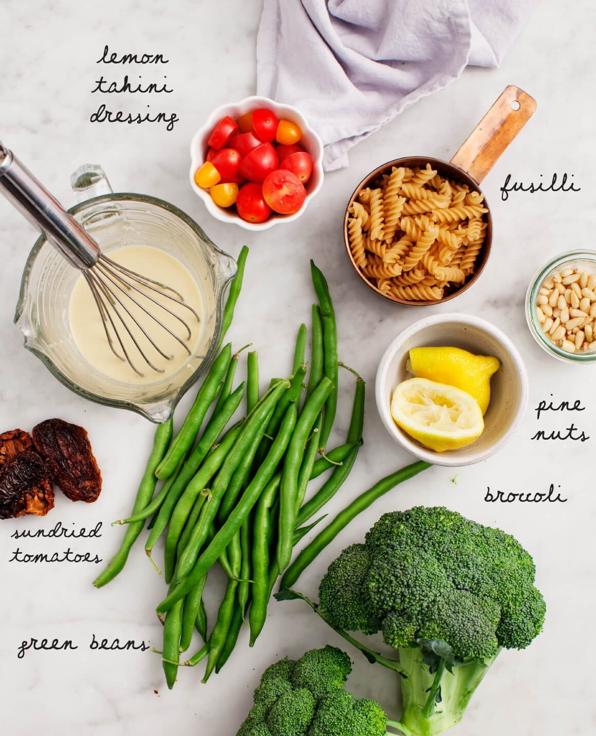 Healthy Broccoli Pasta Salad  Broccoli Tahini Pasta Salad Recipe Love and Lemons