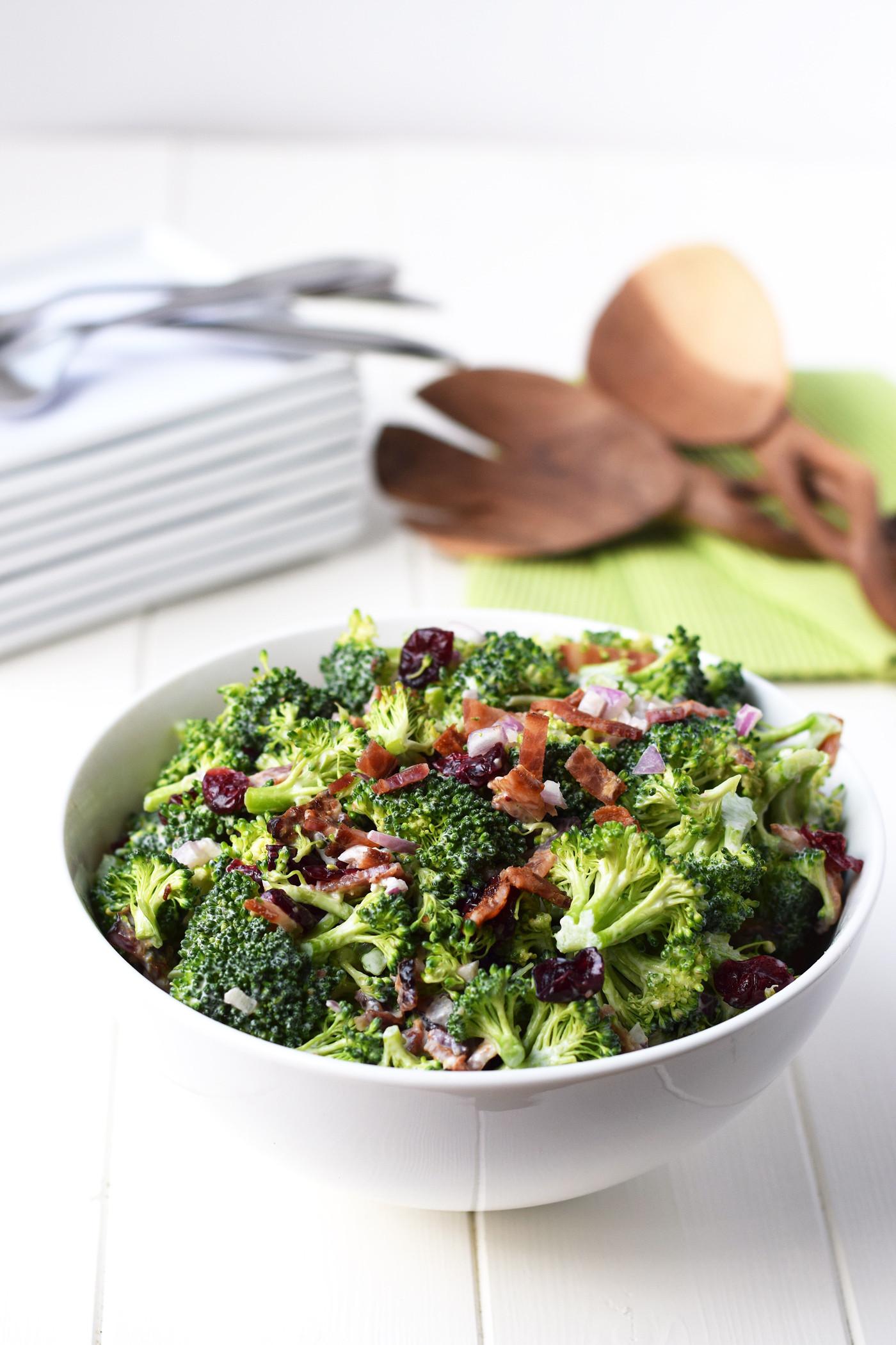 Healthy Broccoli Recipes  healthy broccoli salad recipe with greek yogurt