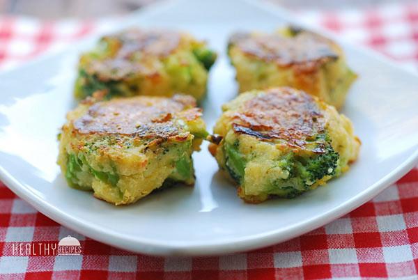 Healthy Broccoli Recipes  Cheesy Broccoli Bites