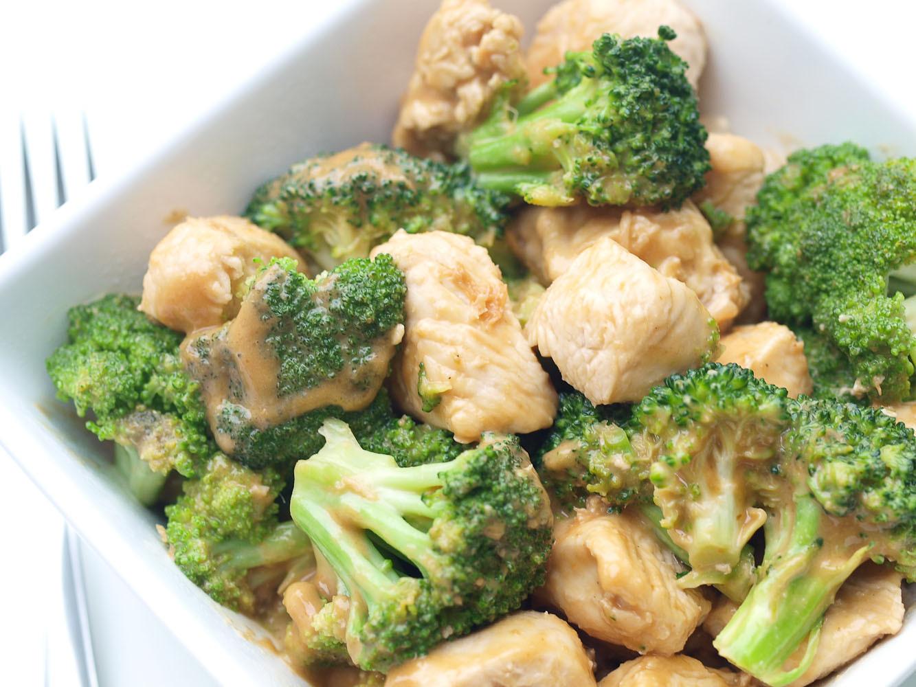 Healthy Broccoli Recipes  Easy Broccoli and Chicken with Peanut Sauce Happy
