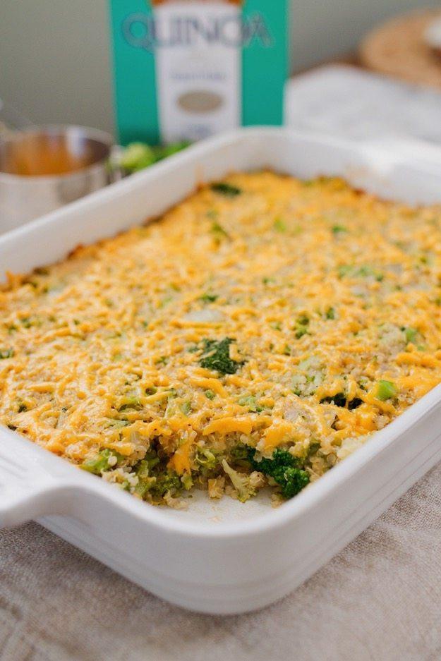 Healthy Broccoli Rice Casserole  Cheesy Broccoli Quinoa Casserole