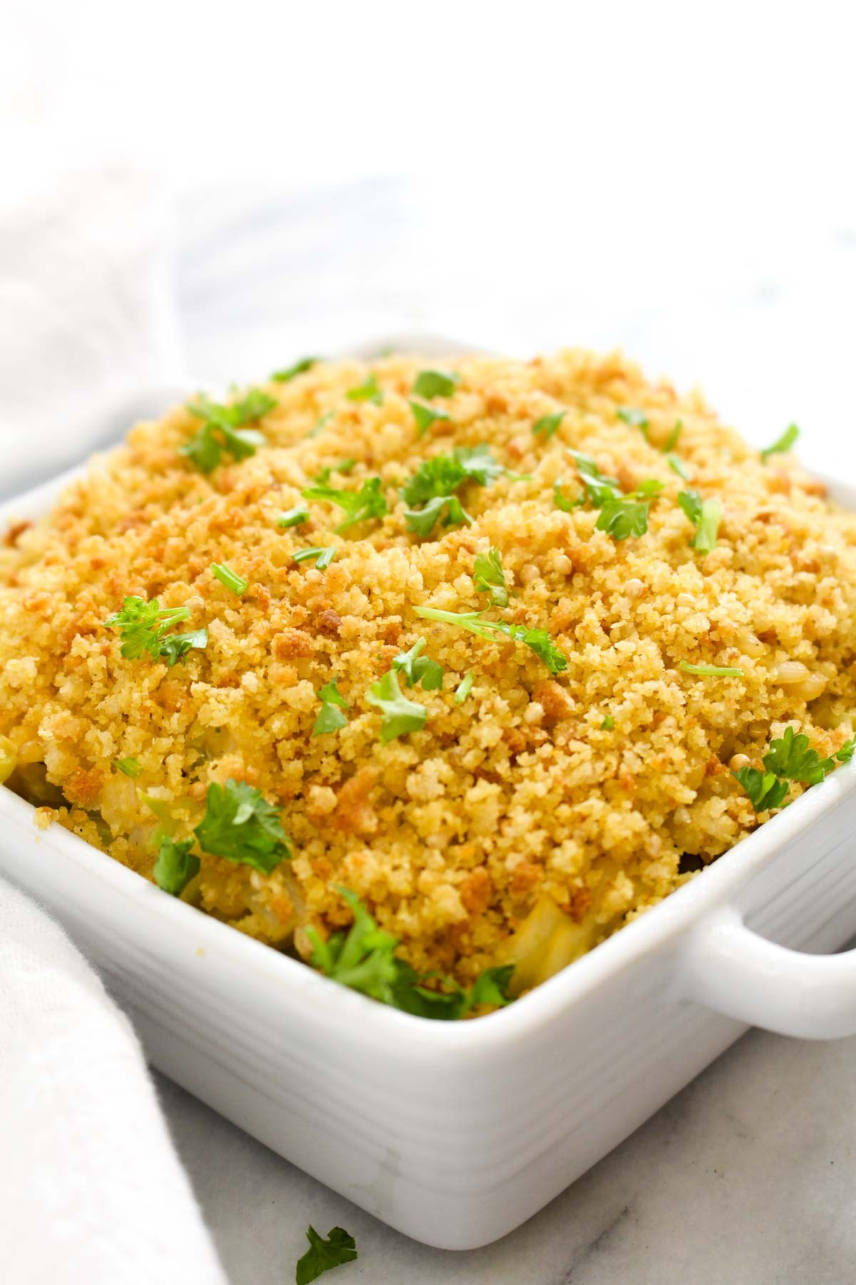 Healthy Broccoli Rice Casserole  Vegan Cheesy Broccoli Rice Casserole Catching Seeds