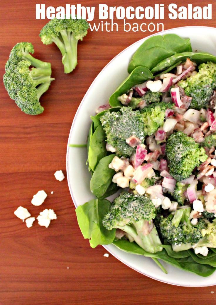 Healthy Broccoli Salad Recipe  Healthy Broccoli Salad with Bacon NewmansOwn