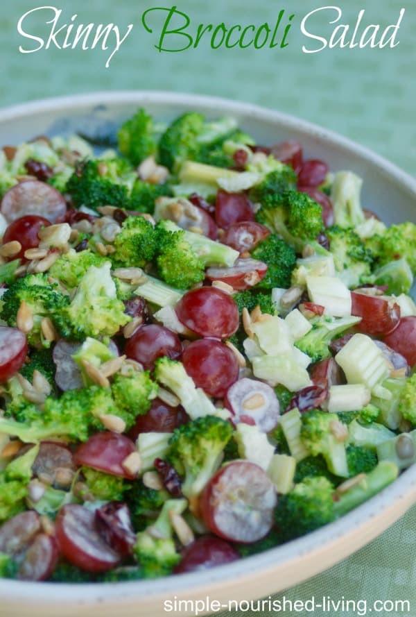 Healthy Broccoli Salad Recipe  Low Calorie Skinny Broccoli Salad Recipe