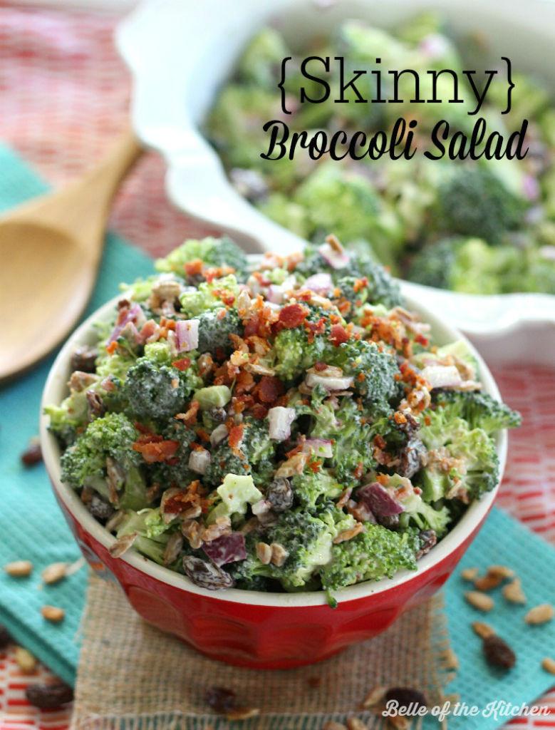 Healthy Broccoli Salad Recipe  Skinny Broccoli Salad Belle of the Kitchen