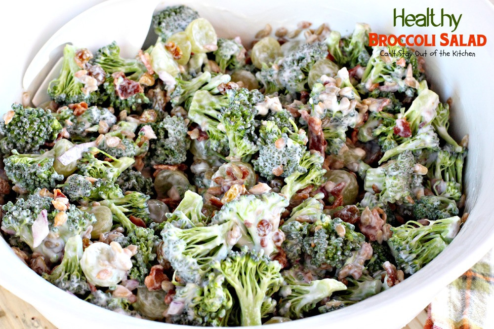 Healthy Broccoli Salad Recipe  Healthy Broccoli Salad Can t Stay Out of the Kitchen