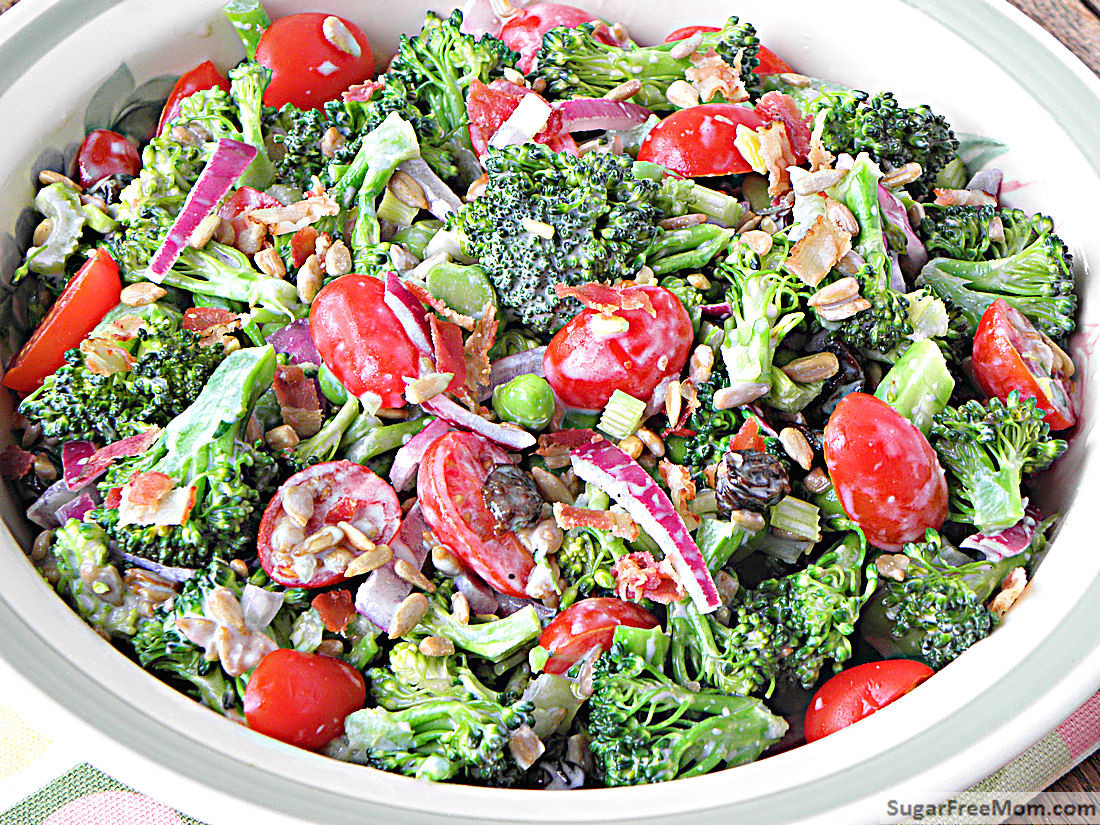 Healthy Broccoli Salad Recipe  healthy broccoli salad recipe no mayo
