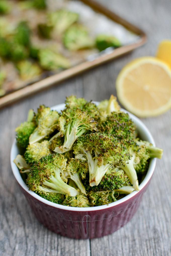 Healthy Broccoli Side Dishes  Lemon Roasted Broccoli