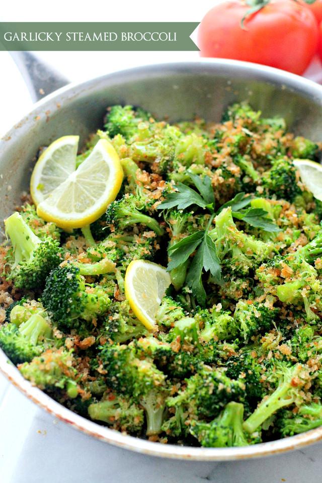 Healthy Broccoli Side Dishes  Garlicky Steamed Broccoli Recipe