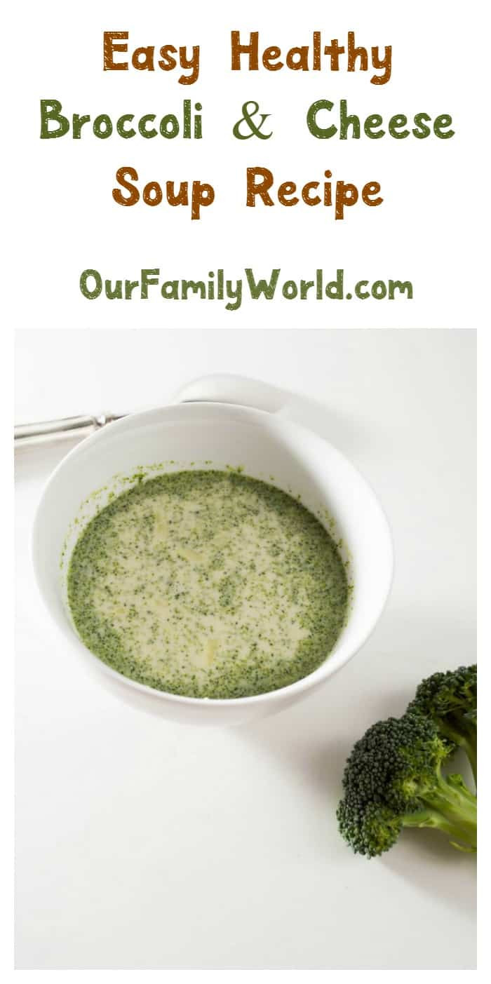 Healthy Broccoli Soup Recipe  Easy Healthy Recipe Broccoli Cheese Soup