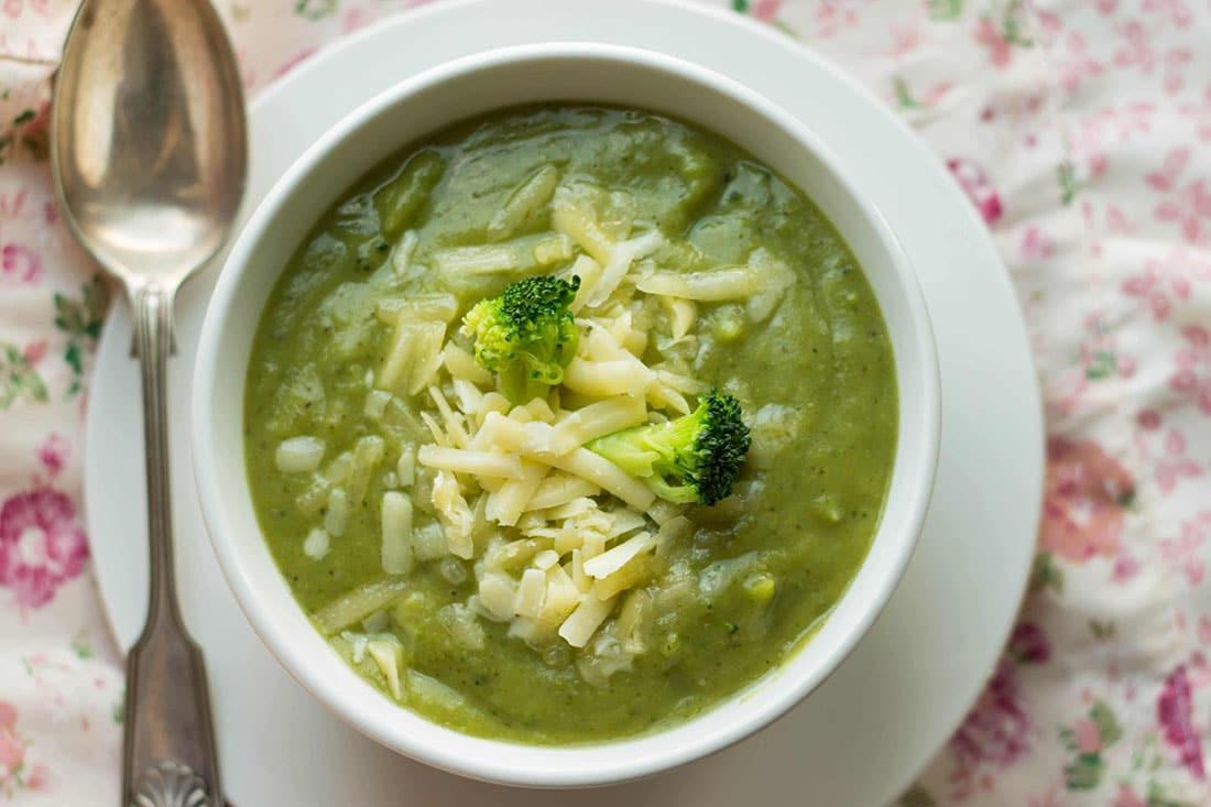 Healthy Broccoli Soup  Healthy Creamy Broccoli Soup Indulgent with no cream