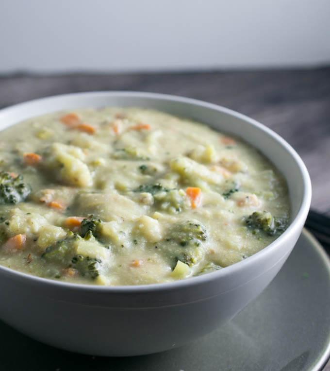 Healthy Broccoli Soup  Creamy Vegan Broccoli Soup Recipe