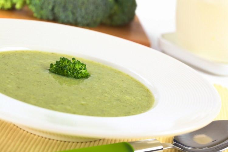 Healthy Broccoli Soup  Healthy Cream of Broccoli Soup Busy But Healthy