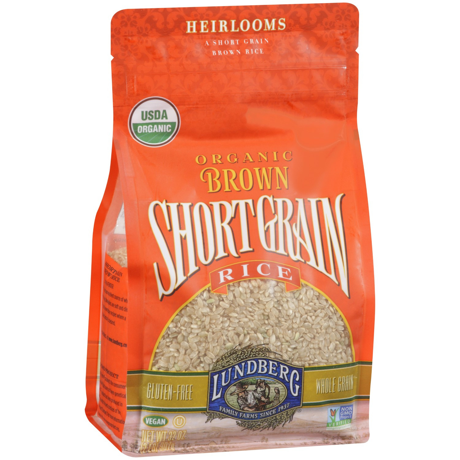Healthy Brown Rice Brands  Lundberg Organic Short Grain Brown Rice 32 Oz