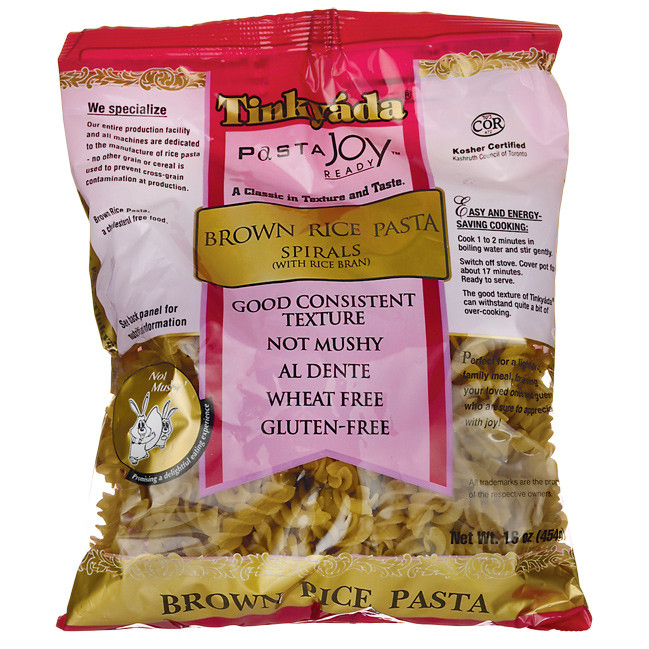 Healthy Brown Rice Brands  Tinkyada Brown Rice Pasta Spirals 16 oz Pkg Swanson