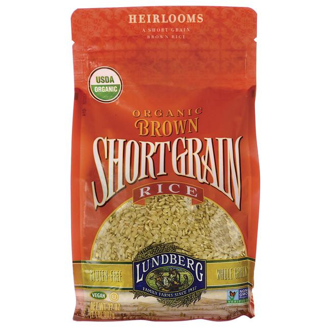 Healthy Brown Rice Brands  Lundberg Family Farms Organic Short Grain Brown Rice 2 lb