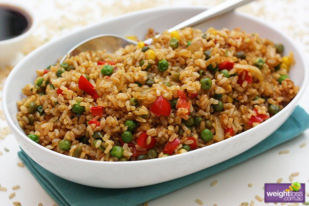 Healthy Brown Rice Recipes  Fried Brown Rice