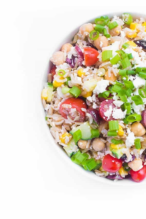Healthy Brown Rice Side Dish Recipes  Brown Rice Greek Salad The Lemon Bowl