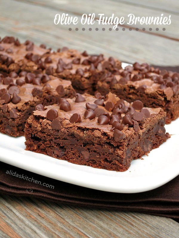 Healthy Brownies From Scratch  Olive Oil Fudge Brownies PantryInsiders Alida s Kitchen