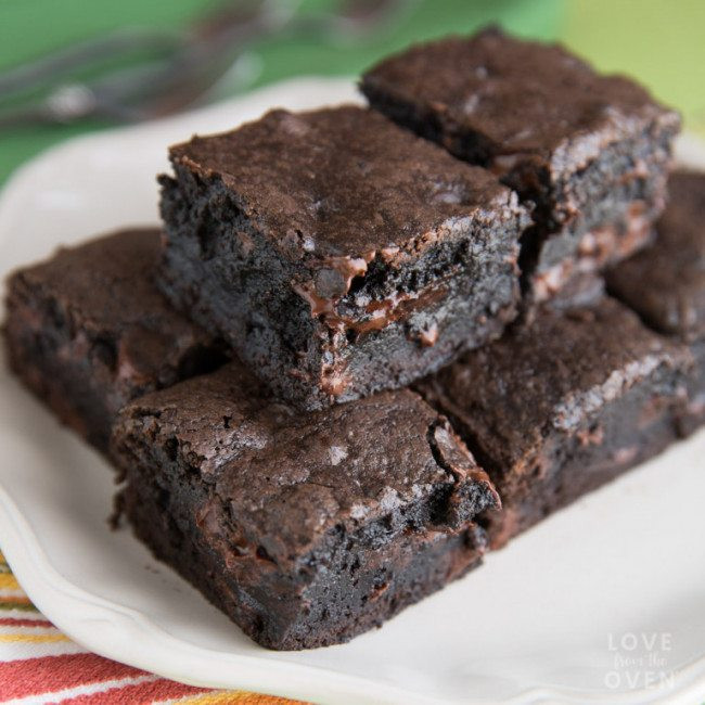 Healthy Brownies From Scratch  Easy Brownies From Scratch Love From The Oven