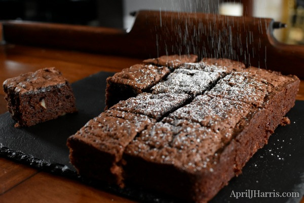 Healthy Brownies With Applesauce  Old Fashioned Applesauce Pecan Brownie Recipe April J Harris