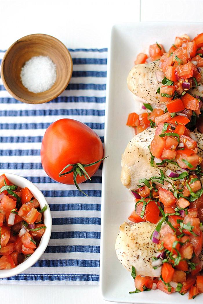 Healthy Bruschetta Chicken  Healthy Bruschetta Chicken Eat Yourself Skinny