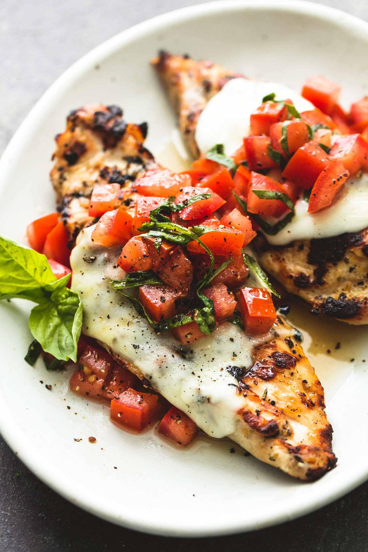 Healthy Bruschetta Chicken  Grilled Bruschetta Chicken