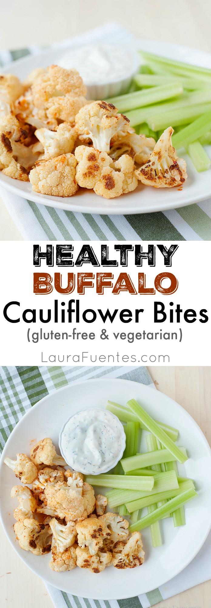 Healthy Buffalo Cauliflower  Healthy Buffalo Cauliflower Bites