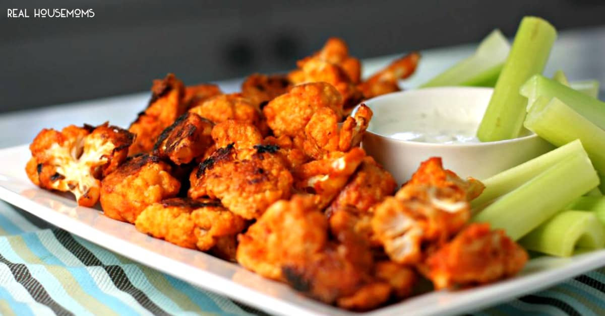 Healthy Buffalo Cauliflower  Buffalo Cauliflower Bites Healthy Appetizer Recipe