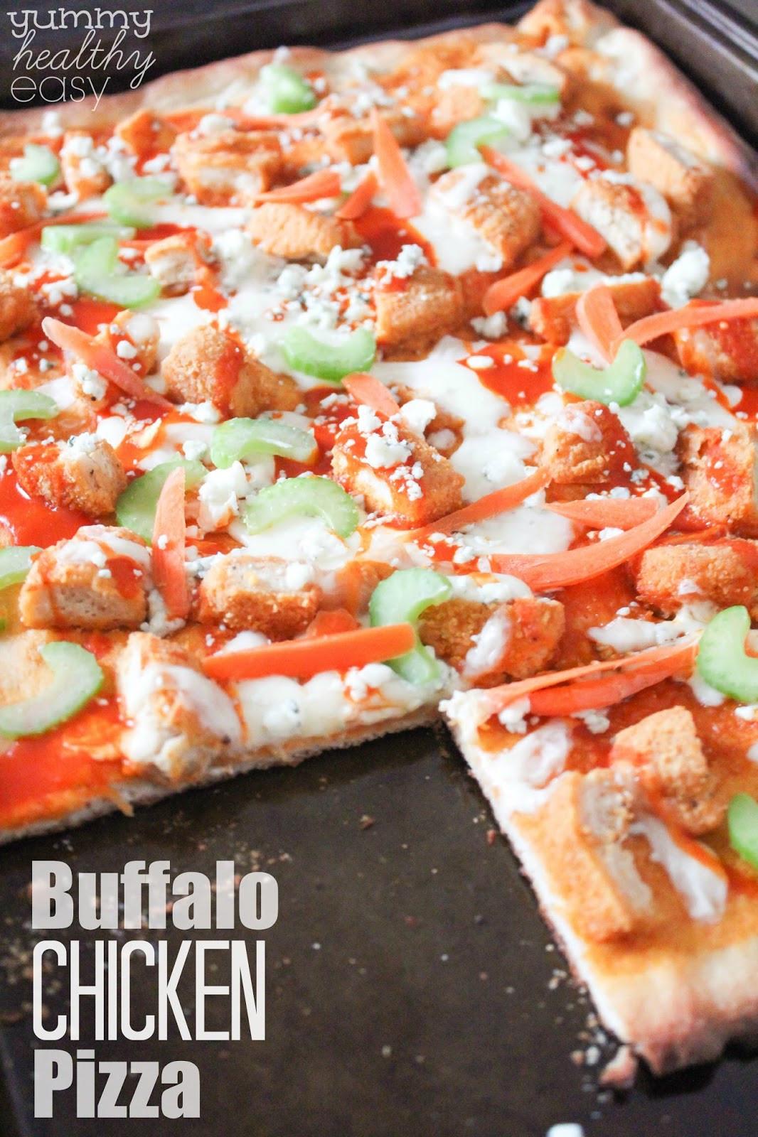 Healthy Buffalo Chicken Pizza  Easy Buffalo Chicken Pizza Yummy Healthy Easy