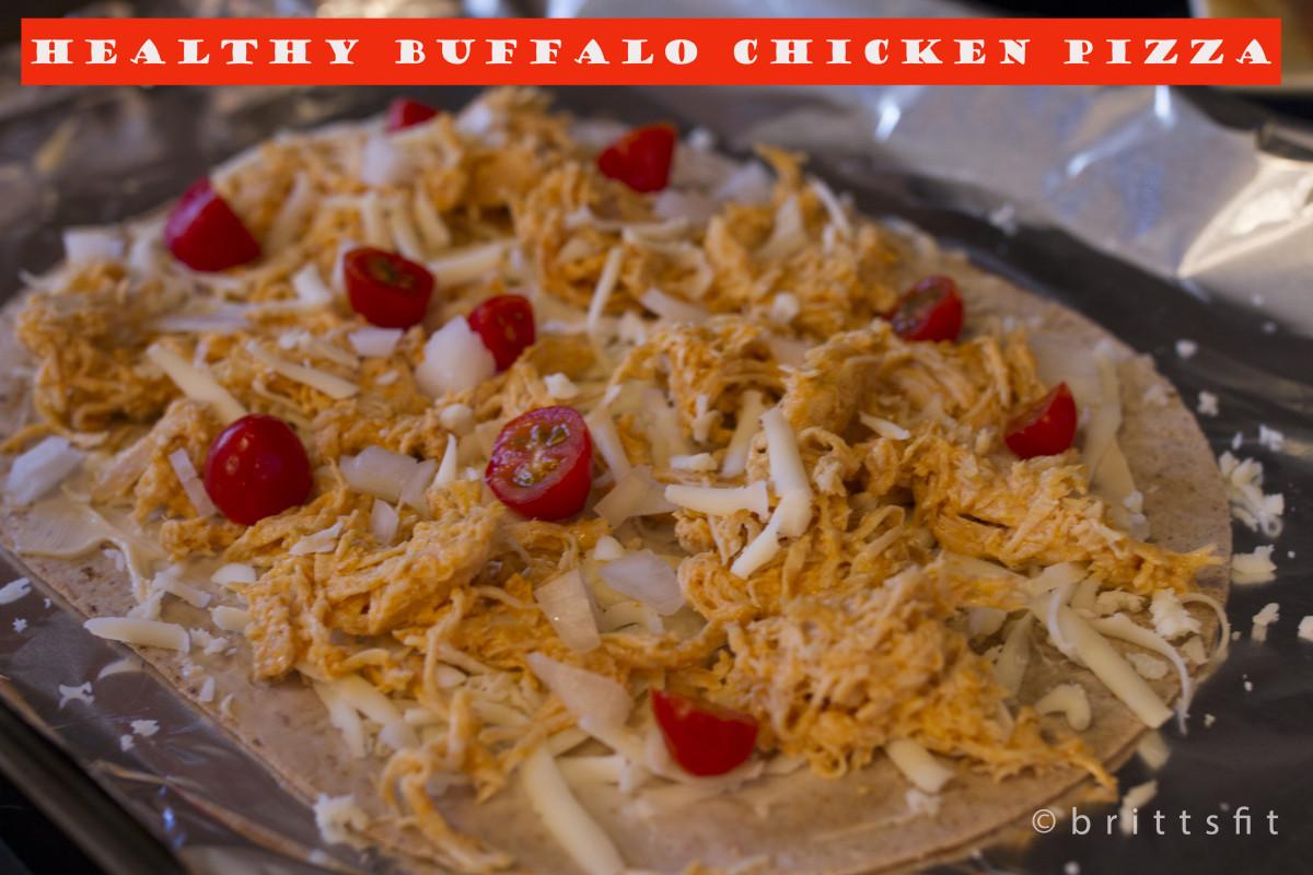 Healthy Buffalo Chicken Pizza  Healthy Buffalo Chicken Pizza