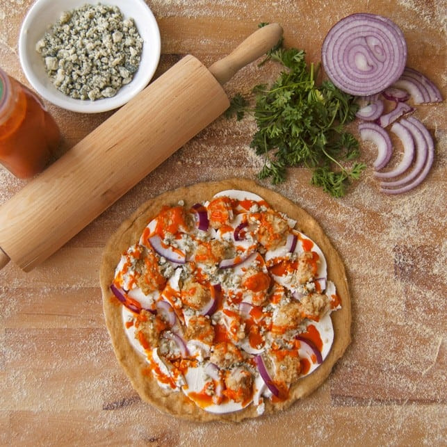 Healthy Buffalo Chicken Pizza  Healthy Buffalo Chicken Pizza 2teaspoons