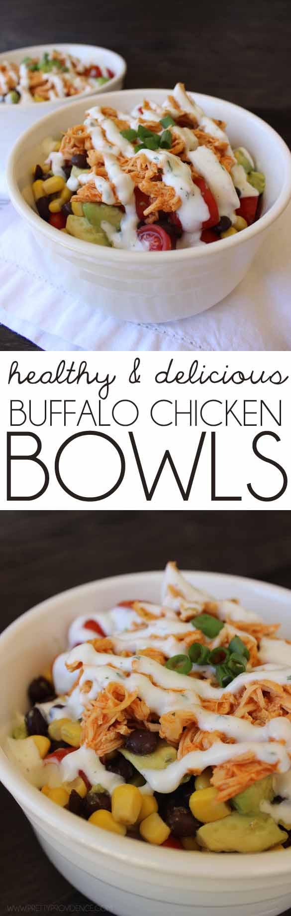 Healthy Buffalo Chicken Recipes  Healthy Buffalo Chicken Bowls