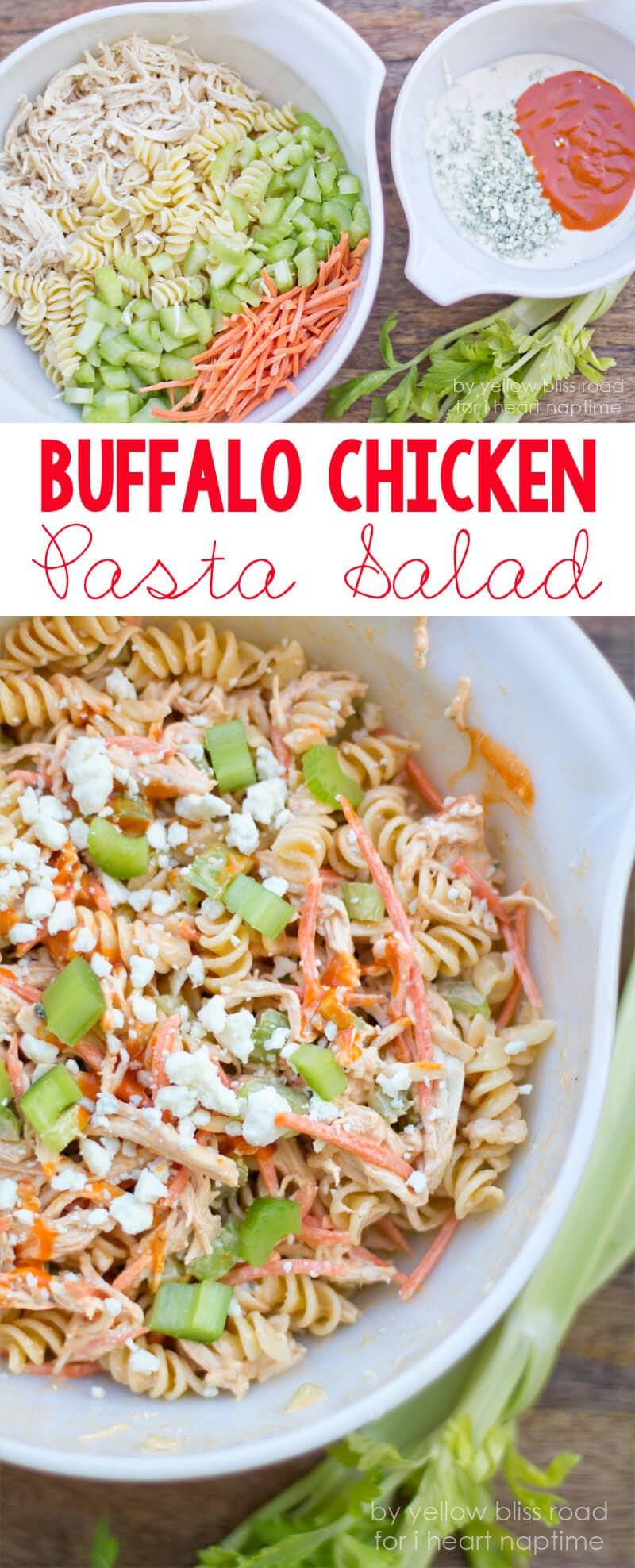 Healthy Buffalo Chicken Salad  healthy buffalo chicken pasta salad