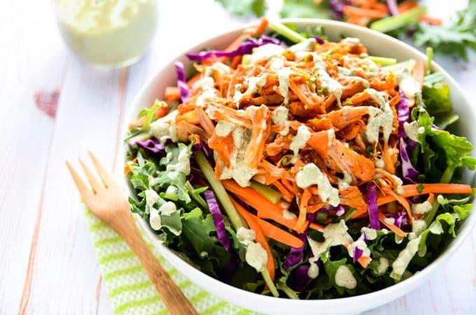 Healthy Buffalo Chicken Salad  healthy buffalo chicken salad